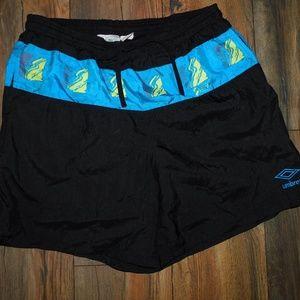 Vintage Umbro Soccer Shorts Large Black